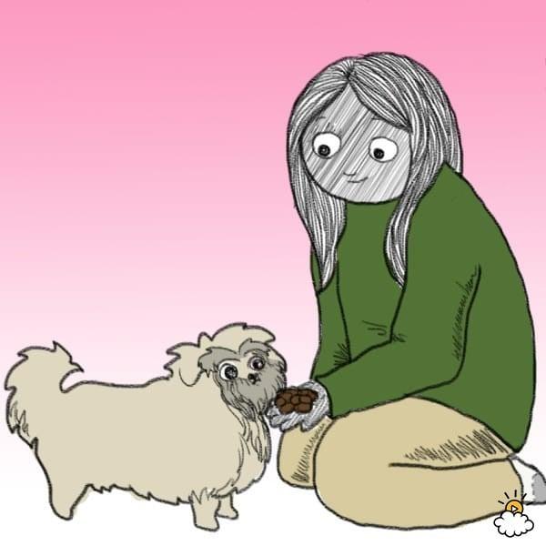 A kutya szeretetnyelve - Etesd kézből