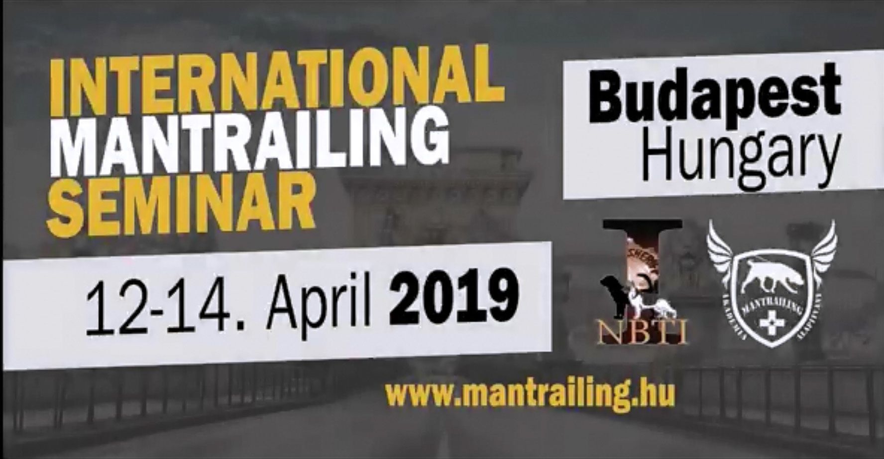 International Mantrailing Seminar Budapest 12-14.04.2019